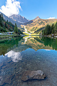 Mount Porze (Palombino) and the Klapfsee in the Dorfervalley, Obertilliach, Lesachtal, East Tyrol, Lienz, Austria