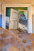 The inside of an abandoned building, Kolmanskop,Luderitz,Namibia,Africa