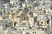 """Cityscape of """"Sassi"""" in Matera, region of Basilicata, Italy, Europe"""