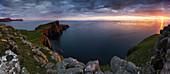 Sunset at Neist Point, Isle of Skye, Scotland, United Kingdom, Northern Europe