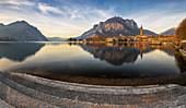 Lecco bei Sonnenuntergang, Lecco, Lombardei, Italien, Südeuropa