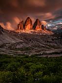 Tre Cime di Lavaredo, Bolzano province, dolomites, Trentino Alto Adige, Italy, Europe