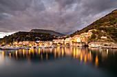 Seaport of Maratea village, Potenza district, Basilicata, Italy