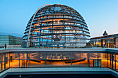 Reichstag Dome, Parliament building in Berlin, Germany, Europe
