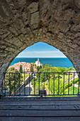 St. George's Parish Church viewed from Piran town walls, Piran, Istria, Slovenia