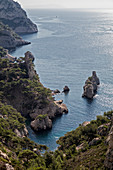 Marseille, Cassis, Provence, France, Europe. Landscapes of the Calanques,Calanque du Sugiton
