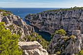 Marseille, Cassis, Provence, France, Europe. Landscapes of the Calanques, Calanque d'En-Vau