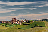 Monferrato, Asti district, Piedmont, Italy. Landscapes of the Monferrato wine region,Grana village