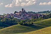Monferrato, Asti district, Piedmont, Italy. Landscapes of the Monferrato wine region, Grazzano Badoglio village