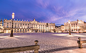 The Place Stanislas in Nancy, France, at sunset