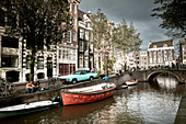 In the center of Amsterdam, Netherlands