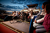 Passengers leave the ferry, Centraal Station, Amsterdam, Netherlands