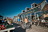 Harbor promenade on the island Marken, North Holland, Netherlands