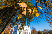 The Jenischhaus in Nienstedten in the park of the same name in autumn, Hamburg, Germany