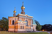 Russian chapel on the Mathildenhöhe in Darmstadt, South Hesse, Hesse