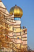 """Hundertwasserhaus """"Waldspirale"""" in the Bürgerparkviertel, Darmstadt, South Hesse, Hesse"""