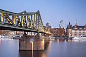 Bridge Eiserner Steg over the Main in Frankfurt, Hesse, Germany