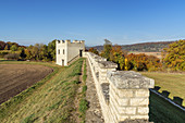 Roman fort's Roman fort Vetoniana in the Altmühltal, Pfünz, Naturpark Altmühltal, Upper Bavaria, Bavaria