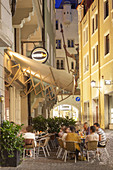 Cafes in the old town, Regensburg, Upper Palatinate, Bavaria