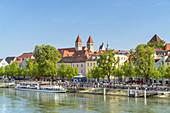 Old Town on the Danube, Regensburg, Upper Palatinate, Bavaria