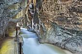 Partnachklamm in Garmisch-Partenkirchen, Wetterstein Mountains, Werdenfelser Land, Upper Bavaria, Bavaria