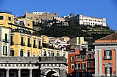 View from Piazza del Plebescito to the Montecalvario, Naples, Campania, Italy