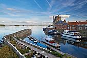 View of the port of Veere and the Veerse Meer, Walcheren peninsula, Zeeland province, Netherlands, Holland