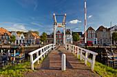 View over the drawbridge on Veere, Veerse Meer, Walcheren peninsula, Zeeland province, Netherlands, Holland