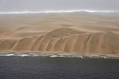 Dunes in the Namib desert at the Atlantic Ocean, Namibia
