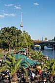 Strandbar Mitte an der Spree , Alex, Berlin,