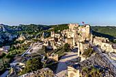 Chateau des Baux de Provence mit Felsen, Provence, Frankreich