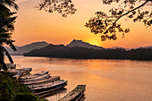 Sunset on the Mekong River, Luang Prabang, Laos