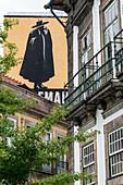 Sandeman mural in Porto, Portugal