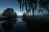 At the blue hour, the countless rivers of the Spreewald turn into a fairytale landscape