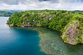 Kajaken in Fjords bei Tufi, Tufi, Cape Nelson, Papua Neuguinea