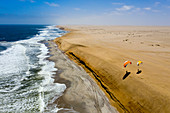 Paragliding on the dune at Henties Bay, Henties Bay, Namibia