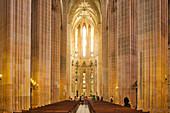 Cathedral in the Dominican Monastery of Santa Maria da Vitória in Batalha, Estremadura, Central Portugal, Portugal