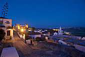 Obidos, medieval walled city in the evening after sunset, Extremadura, Central Portugal, Portugal