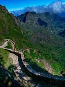 Schmaler Weg ins Tal, Kap Verde, Santo Antao