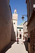 Alley to a Mosque in Marrakech, Marrakech, Morocco
