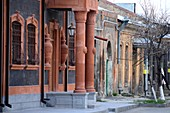 Old Russian architecture in the old town of Gyumri, northern Armenia, Asia