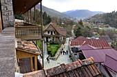 renovated lane in Tufenkian Complex, Dilijan, Caucasus, Northern Armenia, Asia