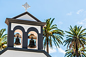 The bell tower of the Chapel Ermita de los Santos Reyes, Valle Gran Rey, La Gomera, Canary Islands, Spain