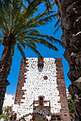 The tower Torre del Conde in the park of the same name, San Sebastián de La Gomera, La Gomera, Canary Islands, Spain