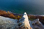 Kreidefelsen an der Viktoriasicht, Nationalpark Jasmund, Rügen, Ostsee, Mecklenburg-Vorpommern, Deutschland