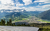 Garmisch-Partenkirchen Panorama with ski jump