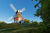 Windmill, Amrum, North Sea, Schleswig-Holstein, Germany