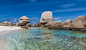 Anse Marron beach on the island of La Digue Seychelles