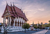 Temple in Hua Hin Thailand at sunset