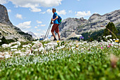 Hiking in the Dolomites, South Tyrol mountains, summer, hiking, climbing